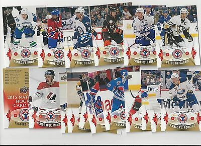 2015 Upper Deck National Hockey Card Day Canada Card Set 1-16 Lot of 10 Sets