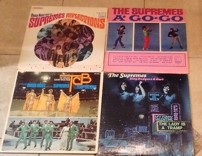 LOT OF 4 DIANA ROSS AND THE SUPREMES  lps *RARE OOP - SOUL, DANCE*