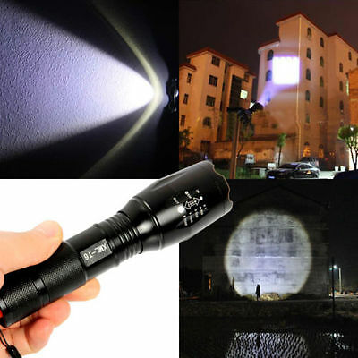 2200 LM Zoomable CREE XML T6 LED 18650 Flashlight Focus Torch Lamp Rechargeable