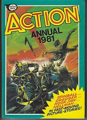 "Action Annual Hardcover Fleetway Annual 1981 ""War, Westerns and Spies"""
