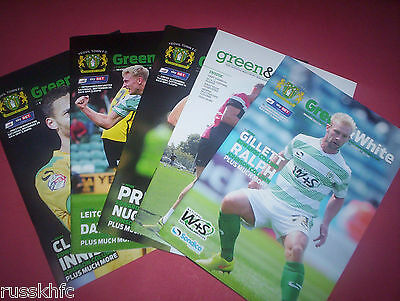 2014/15 - Yeovil Home Programmes Choose From