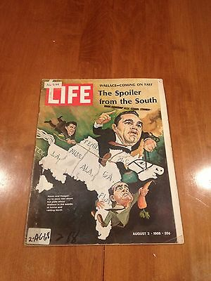 LIFE Magazine The Spoiler from the South August 2 1968 Wallace Nixon Reagan