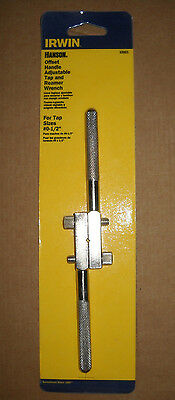 """Irwin Hanson Offset Handle Adjustable Tap & Reamer Wrench for Tap Sizes #0-1/2"""""""