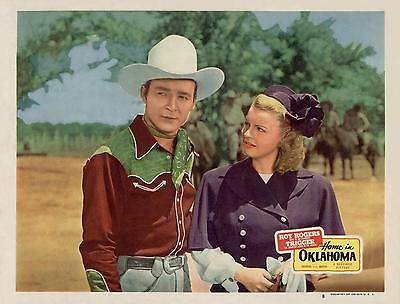 ROY ROGERS with DALE EVANS * HOME IN OKLAHOMA * close-up 11x14 LC print 1946
