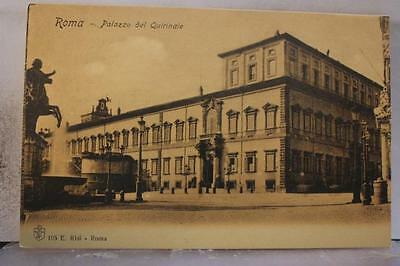 Italy Rome Palazzo del Quinrinale Postcard Old Vintage Card View Standard Post