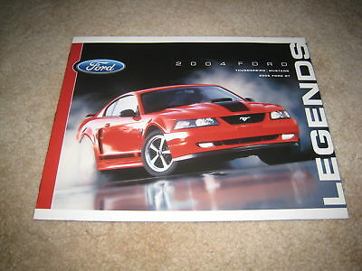 2004 Ford Mustang Thunderbird 2005 GT40 sales brochure auto show literature