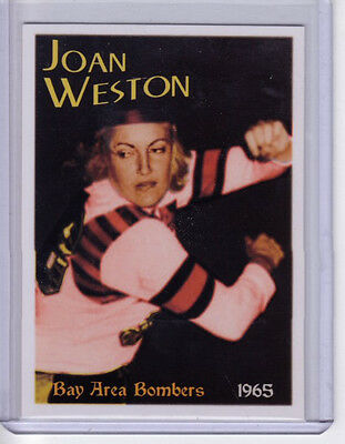 1965 Joan Weston, the Blonde Bomber, SF Bay Area Bombers roller derby star $8 BV
