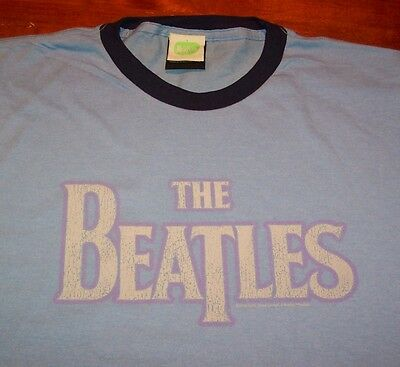 VINTAGE STYLE THE BEATLES RINGER T-Shirt XL NEW