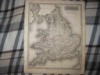 Superb Antique 1817 England Arrowsmith Dated Map Nicely Detailed Rare Nr