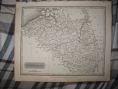 Superb Antique 1817 Netherlands Luxembourg Flanders Brabant Arrowsmith Dated Map
