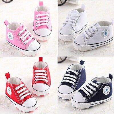 Lovely Baby shoes soft boy girl sneakers toddler crib 1-18 months 3 sizes it`s Q