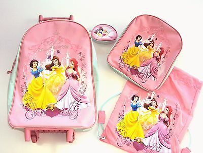 SET TROLLEY ZAINETTO SCUOLA 4 PZ  Orig. DISNEY PRINCESS