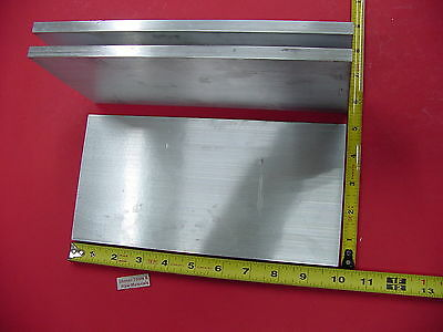 """3 Pieces 3/8"""" X 5"""" ALUMINUM 6061 FLAT BAR 10"""" long T6511 Solid Plate Mill Stock"""