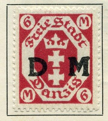 GERMAN DANZIG;  1921 ( Aug ) early Official issue fine Mint hinged 6M.