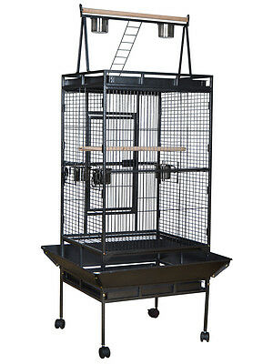 Large Bird Cage Parrot Finch Cage Play Top Gym Perch Stand Cockatoo Pet Supplies