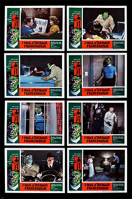 I WAS A TEENAGE FRANKENSTEIN movie poster 8 scenes SCARY FUNNY retro 24X36 -PW0