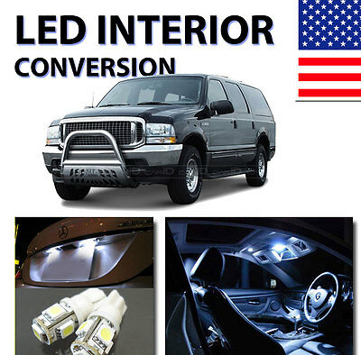 AGT™ Xenon White Interior LED Package Kit for Ford Excursion 2000-2005 (10pcs)