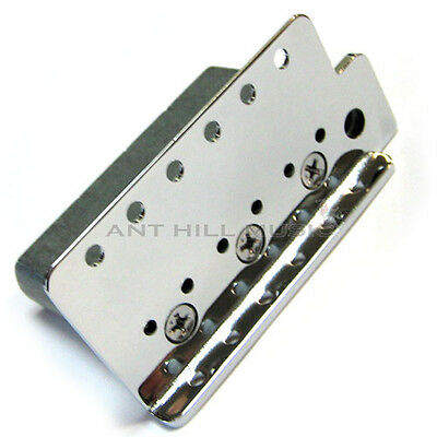 """Genuine Mexican Fender Stratocaster Bridge Plate and High Mass Block 2 1/16"""""""