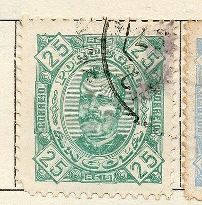 Angola 1893 Early Issue Fine Used 25r. 130082