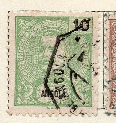 Angola 1898 Early Issue Fine Used 10r. 130087