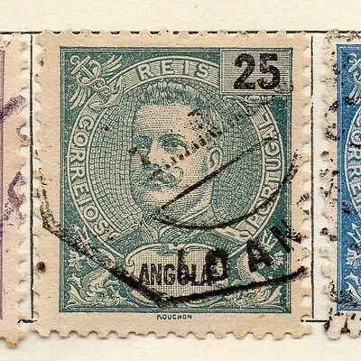 Angola 1898 Early Issue Fine Used 25r. 130090