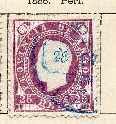 Angola 1886 Early Issue Fine Used 25r. 130074