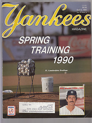 Billy Martin 1990 New York Yankees Magazine with Spring Training Preview