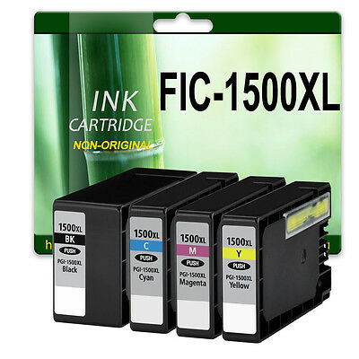 4 Ink Cartridges For MAXIFY MB2050 MB2350 B2000 MB3000 Replace Canon PGI1500XL