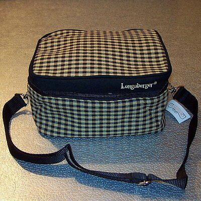 Longaberger Khaki Check LUNCHBOX with Strap ~ Hard-to-Find Brand New-with-Tag! ~