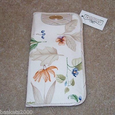 Longaberger Botanical Fields EYEGLASS / SUNGLASS CASE ~ Brand New-with-Tag! ~