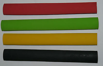 Heavy Duty Rubber Cricket Bat Grip Black Yellow Red Green Double Knurled