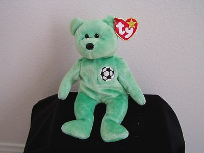 TY BEANIE BABY VERY RARE KICKS BEAR orig. collectible with Tag Errors.