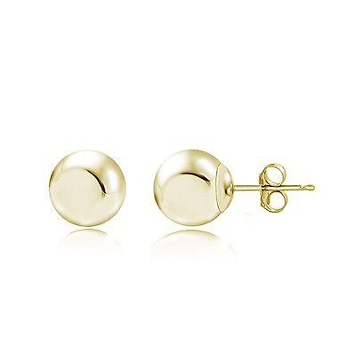 14K Yellow Gold Ball Stud Earrings, 3mm
