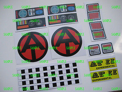 G. I . Joe AT  Mobile Support Vehicle  Stickers - Full Set
