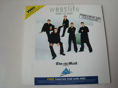 WESTLIFE  cd single COAST TO COAST 4 tracks PREVIEW CD  by the mail