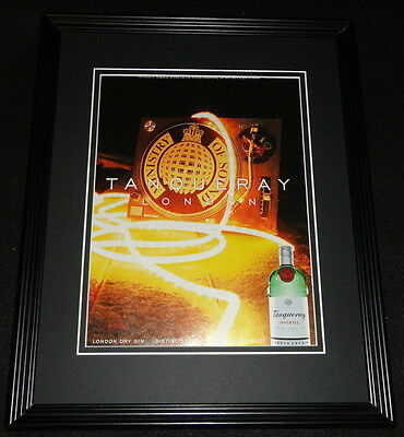 1999 Tanqueray London Dry Gin Framed 11x14 ORIGINAL Advertisement