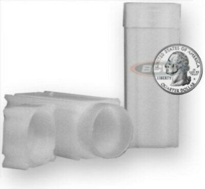Lot of 20 Coin Safe Square Coin Tubes - Quarter Size protectors tube holders