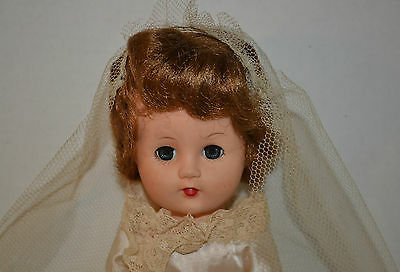 """VINTAGE 1950'S FAIRYLAND TOY 14"""" DOLL IN BRIDAL OUTFIT"""