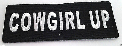 *** COWGIRL UP *** Ladies Biker Patch P4271 E