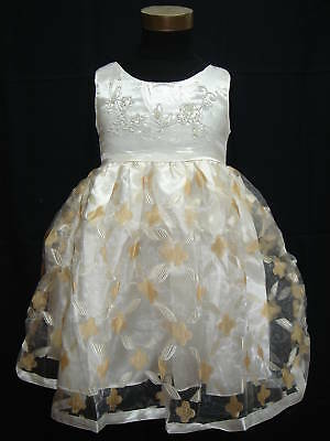 New Ivory Satin Christening/Party Dress 9-12 Months