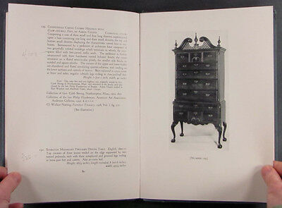 ANTIQUE AMERICAN COLONIAL & FEDERAL FURNITURE -ROLAND VAUGHN COLLECTION 1931