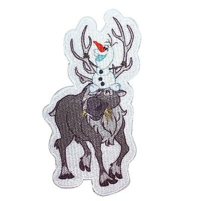 Olaf and Sven Patch Disney Frozen Snowman Reindeer Characters Iron On Applique