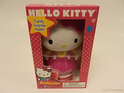 Hello Kitty w/ Red & Yellow Dress Bobble-Head New with Candy Inside Bobblepops
