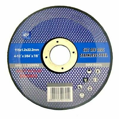 "100 x 41/2"" THIN STAINLESS STEEL METAL CUTTING DISC FOR ANGLE GRINDER 4.5"" 115MM"