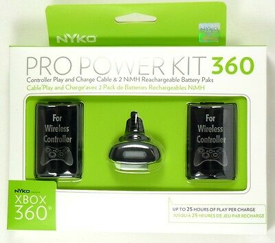 86039 NYKO Xbox 360 Pro Power Kit, 2 Wireless Controller batteries and Charger