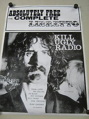 """Zappa - Orig.Vint. import Poster- 90's / VG new cond. Some creases / size 23x33"""""""
