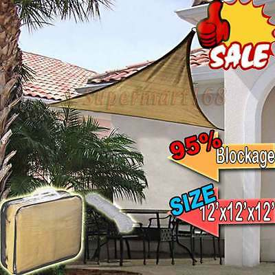 12' 16' Outdoor Patio Triangle  Sun Sail Shade Cover Awning Canopy Top Shelter