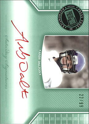 2011 Press Pass Legends Saturday Sig Emerald Red Ink #SSAD Andy Dalton