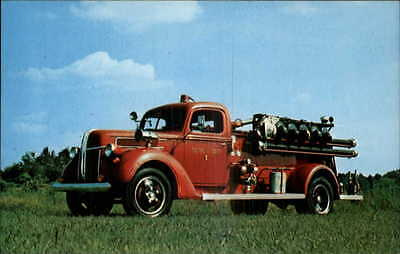 1940 Ford LaFrance Fire Truck - Museum Issue Postcard