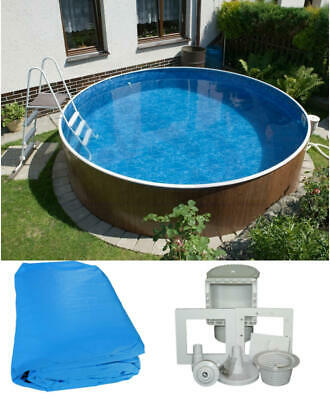 Intex 488x132 set swimming pool frame stahlwandbecken for Ersatzfolie stahlwandpool